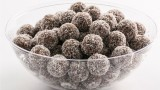 chocolate balls with coconut