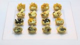 mini tartlets with a weraity of moose and twists
